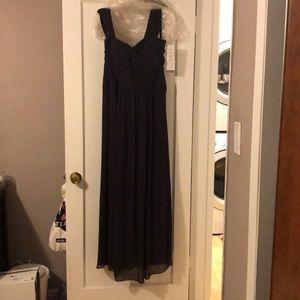 Gorgeous plum floor length gown